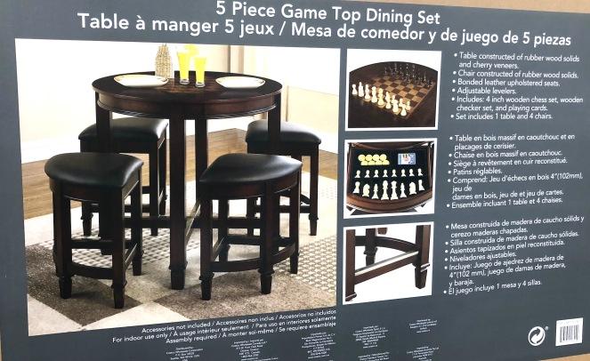 5 Piece Game Top Table Set Kapolei Costco